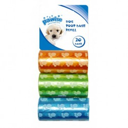 Poop Bags refill 3pack (20 pcs/roll)